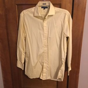 Tommy Hilfiger Pale Yellow Button Down Dress Shirt